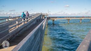 Aussicht auf der Seebrücke Heiligenhafen