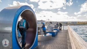 Wasser Spielplatz auf der Seebrücke Heiligenhafen
