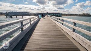 Spazierweg auf der Seebrücke Heiligenhafen