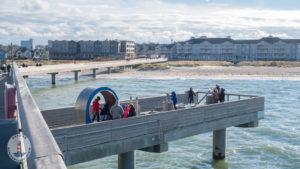Wasserspielplatz von der Seebrücke Heiligenhafen