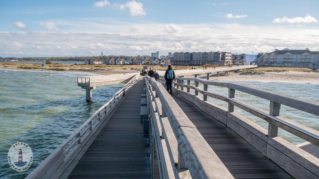 Aussicht von der Seebrücke Heiligenhafen