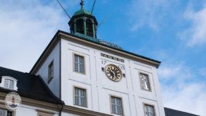 Turm mit Uhr von Schloss Gottorf