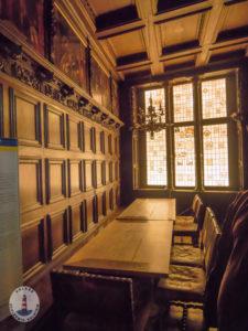 Vertäfelter Raum im Schloss Gottorf