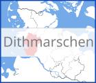 Karte von Dithmarschen
