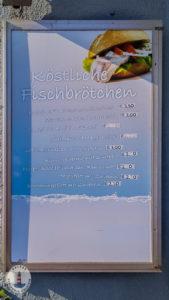 Fischbrötchen Karte im Imbiss Köstlich in Neustadt Holst