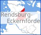 Karte von Rendsburg-Eckernfoerde