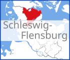 Karte von Schleswig-Flensburg