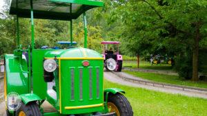 Trecker Fahrt im Freizeitpark Tolk-Schau